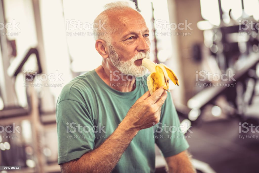 Healthy snack at gym. royalty-free stock photo
