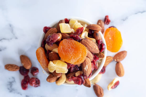 collation: mélange de fruits secs - Photo