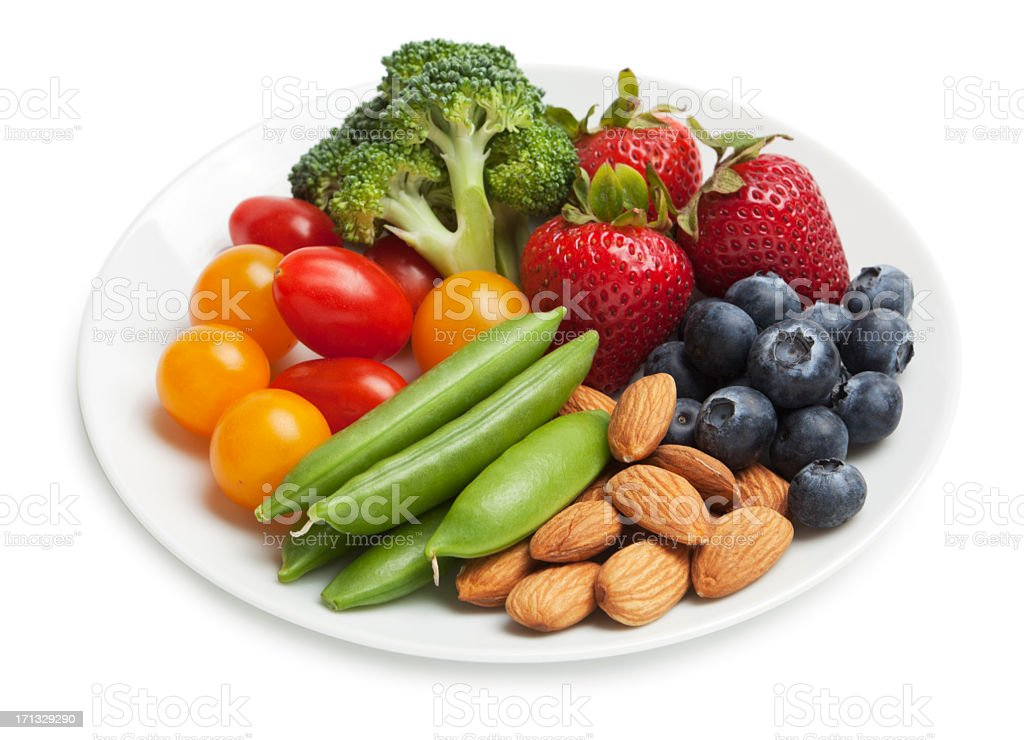 Healthy snack plate stock photo