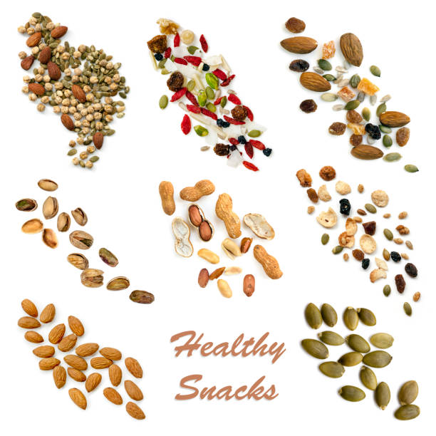 Healthy Snacking Food Collection stock photo