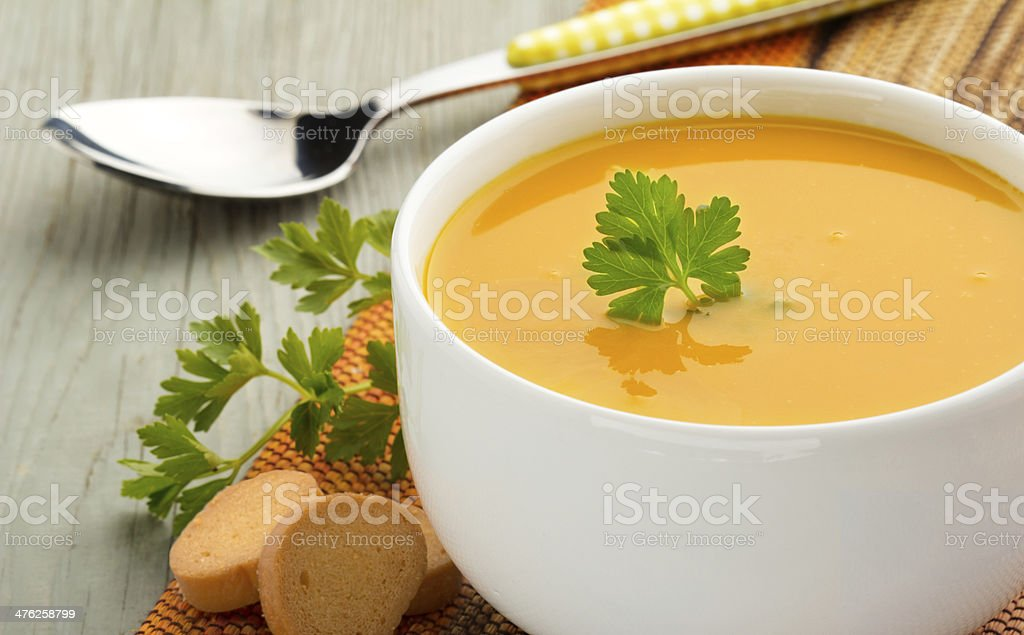 healthy soup stock photo