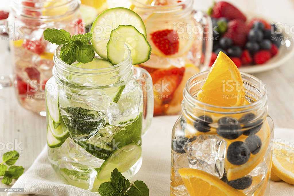 Healthy Spa Water with Fruit - Royalty-free Berry Stock Photo