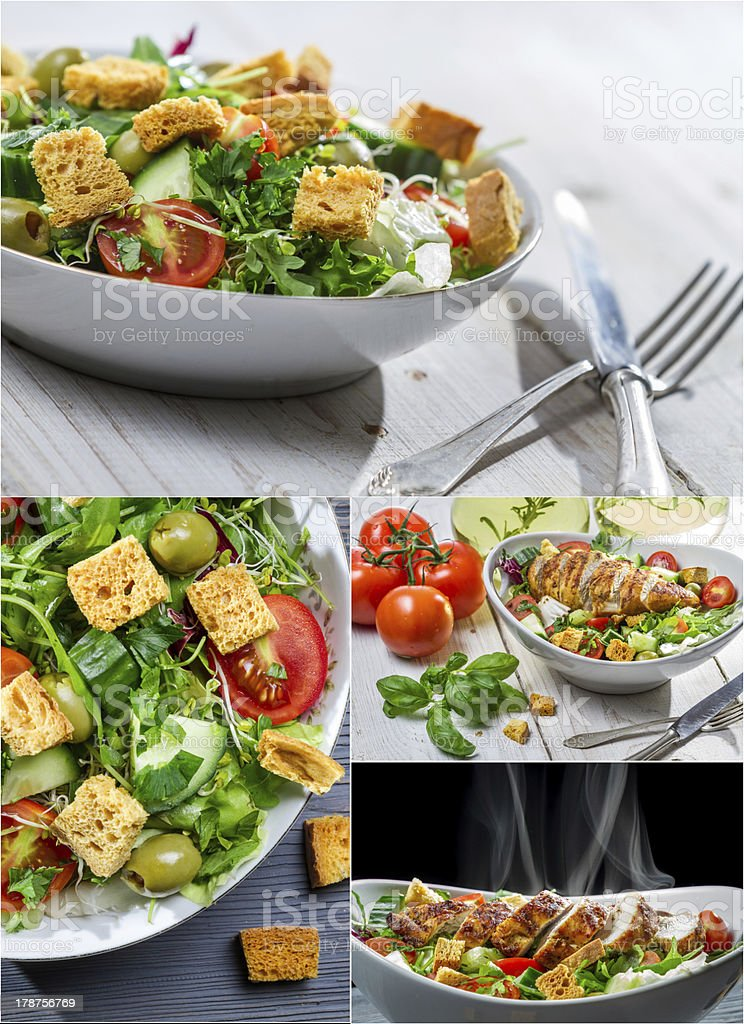 Healthy spring salad royalty-free stock photo