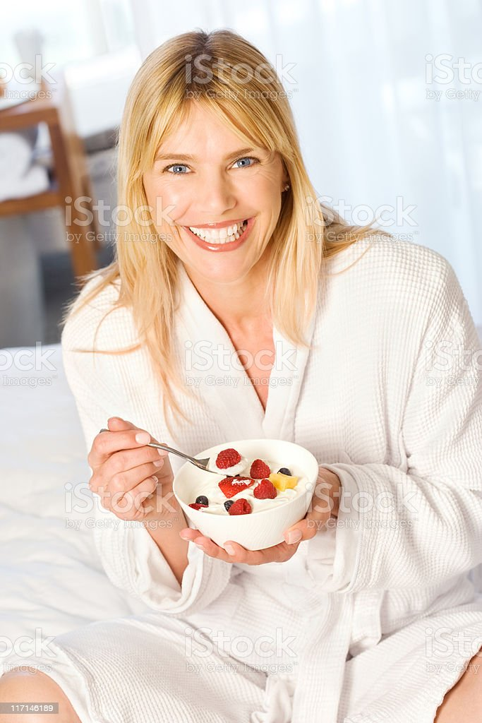 Healthy start to the day royalty-free stock photo