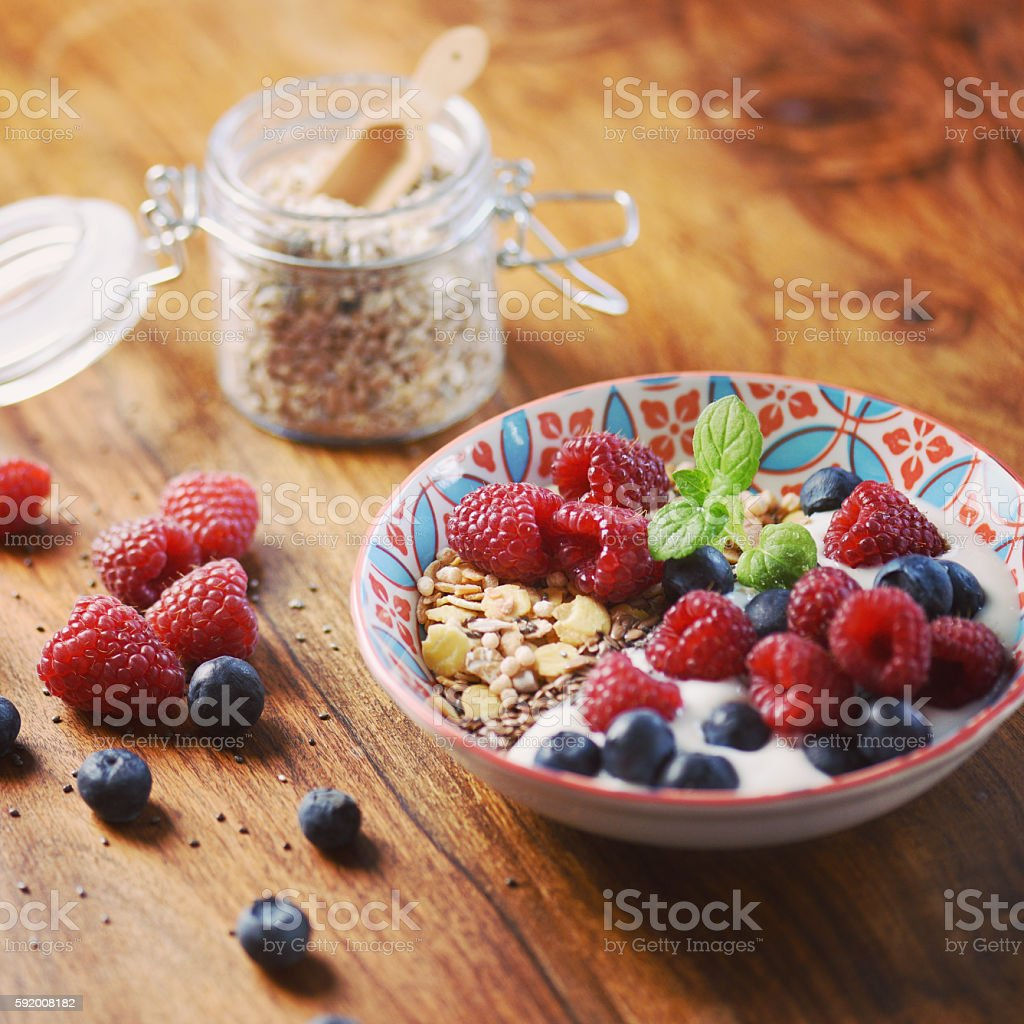 Healthy Start with a Delicious Breakfast Bowl stock photo