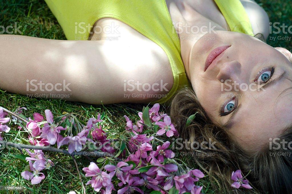 Healthy Summer Girl stock photo