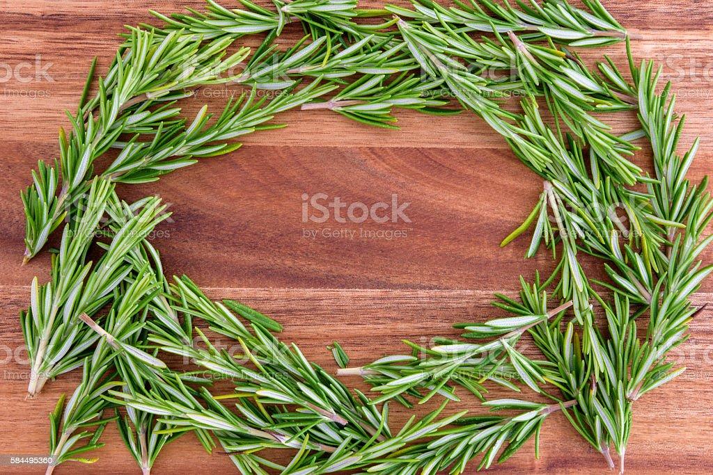 Healthy, tasty, fresh rosemary stock photo