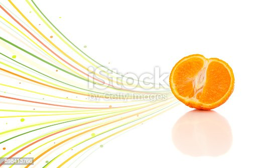 istock Healthy tropical fruits with colorful abstract lines 898413766