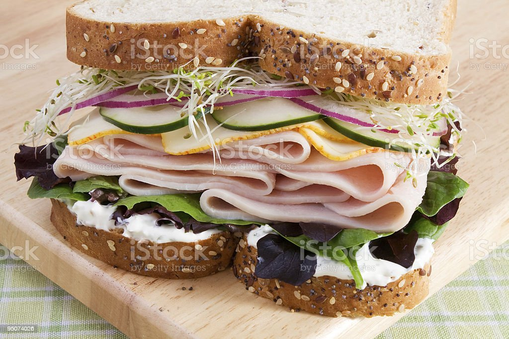 Healthy Turkey Sandwich stock photo