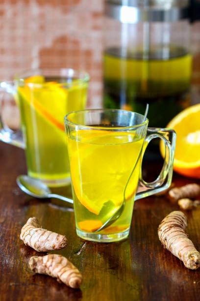 Healthy Turmeric Tea stock photo
