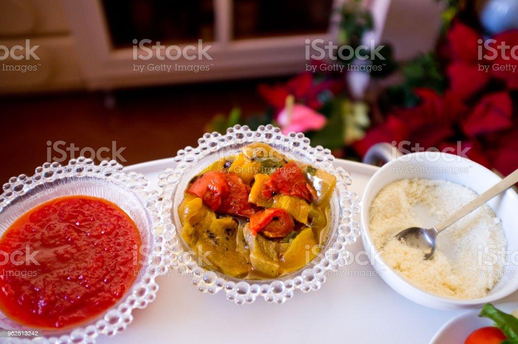 Saudáveis legumes italianos típicos prato pronto para ser comer o plat - Foto de stock de 2015 royalty-free