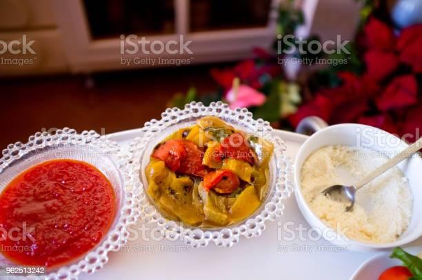 Foto de Saudáveis Legumes Italianos Típicos Prato Pronto Para Ser Comer O Plat e mais fotos de stock de 2015