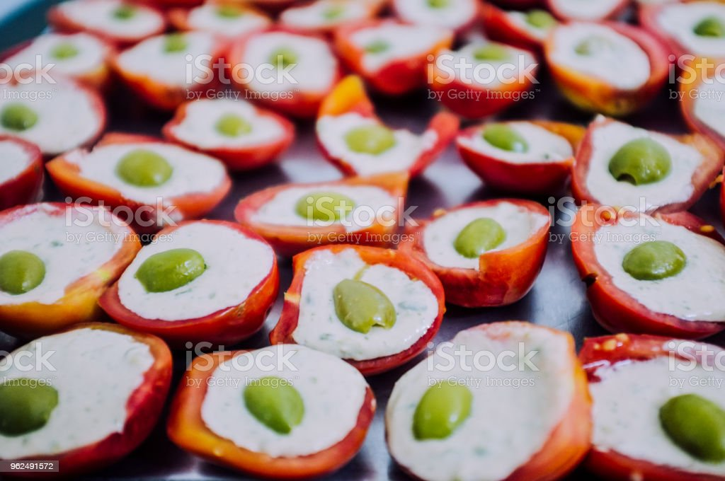 Healthy typical italian tomato dish ready to be eat on the plate - Royalty-free Agriculture Stock Photo