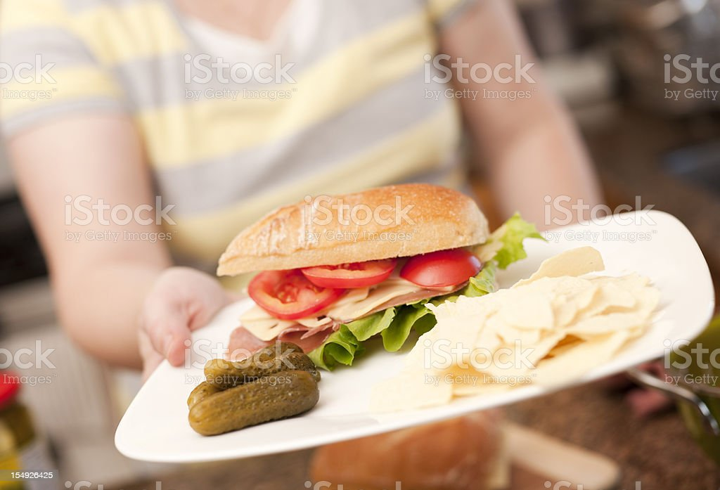 Healthy, Typical Lunch Foods, Real Kitchen royalty-free stock photo