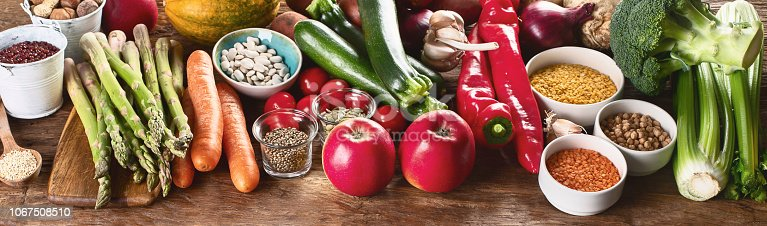 istock Healthy vegan and vegetarian food. 1067508510