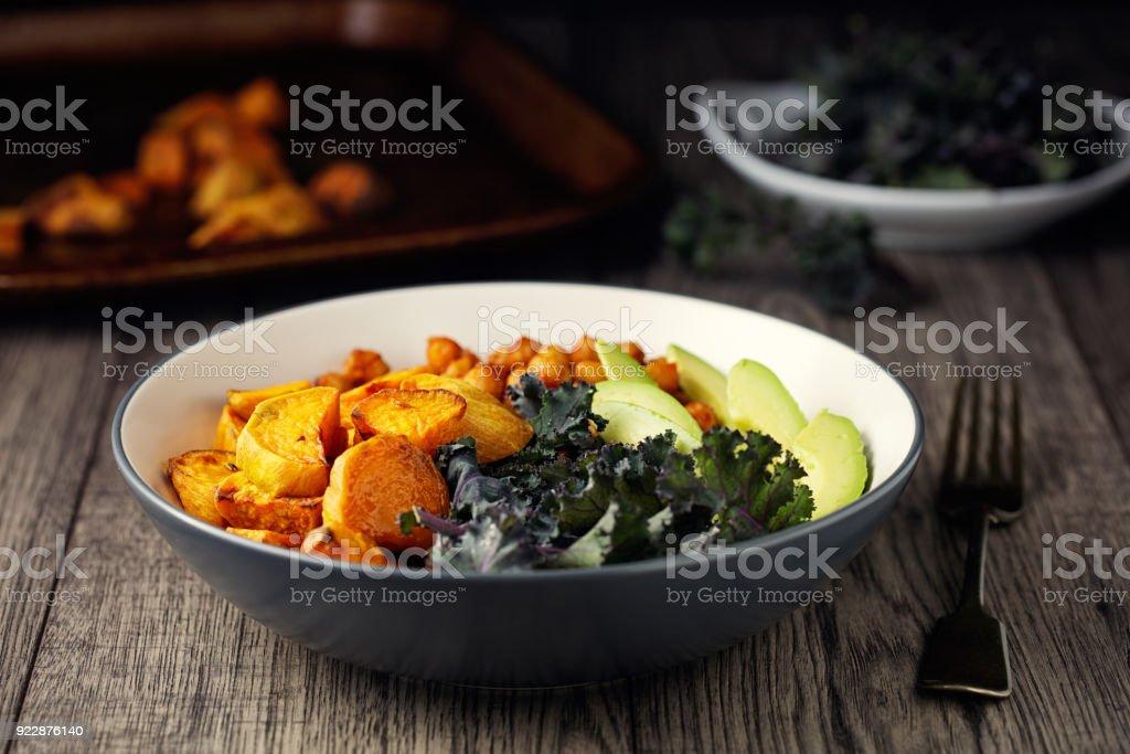 Healthy Vegan bowl stock photo