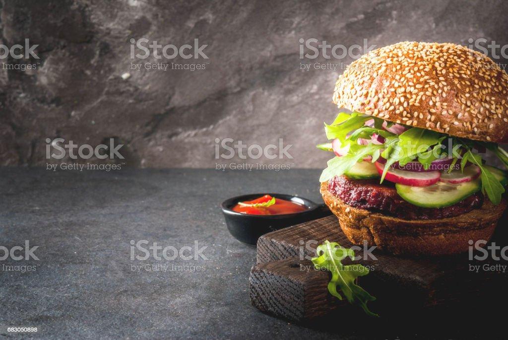 Healthy vegan burgers stock photo