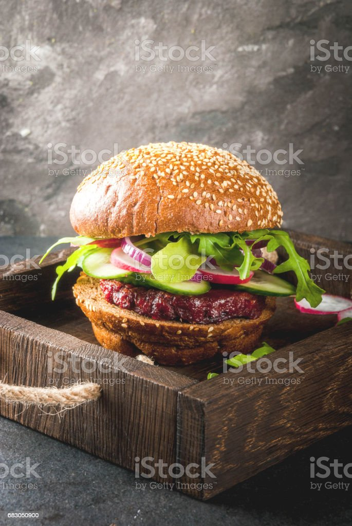 Healthy vegan burgers royalty-free stock photo