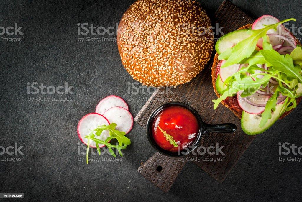 Healthy vegan burgers royalty-free stock photo
