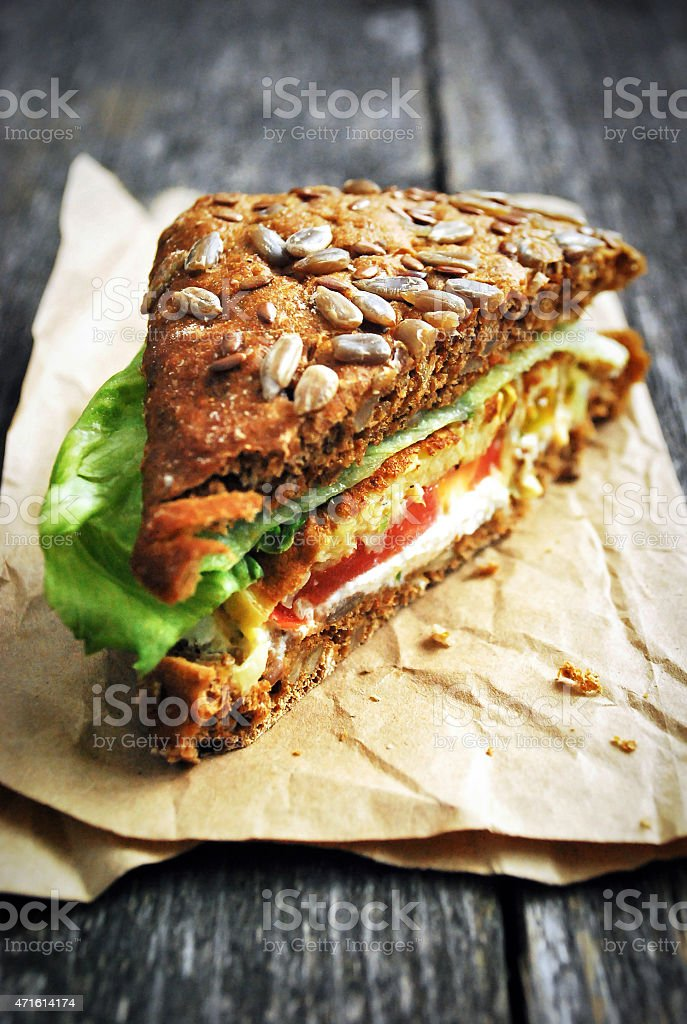 Healthy vegetable sandwich stock photo