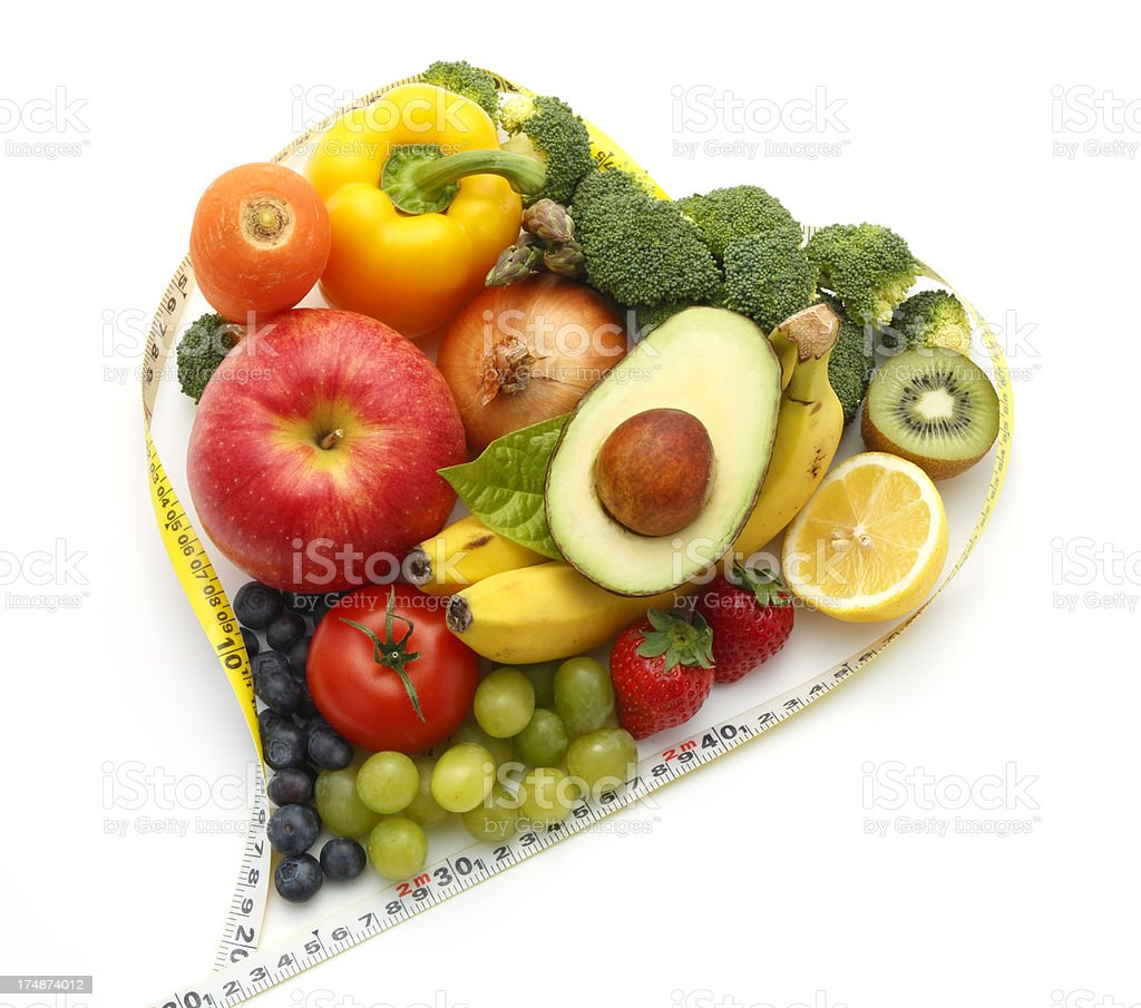 Healthy Vegetables and Fruit (Dieting Concept) royalty-free stock photo