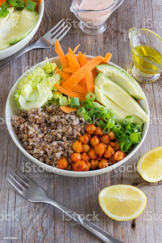 Healthy Vegetarian Buddha Bowl - Photo