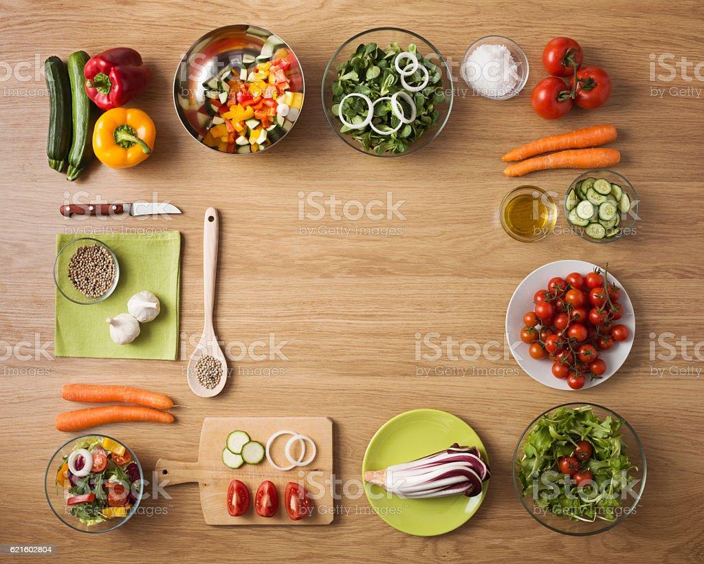 Vegetariano saudável comida caseira - foto de acervo