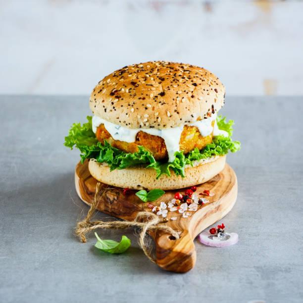 Healthy veggie burger stock photo