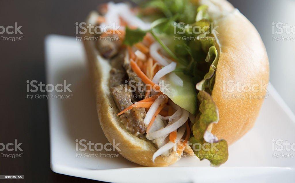 Healthy Vietnamese Chicken Sandwich stock photo