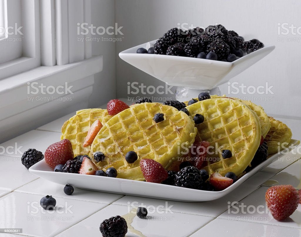 Healthy Waffle Breakfast royalty-free stock photo