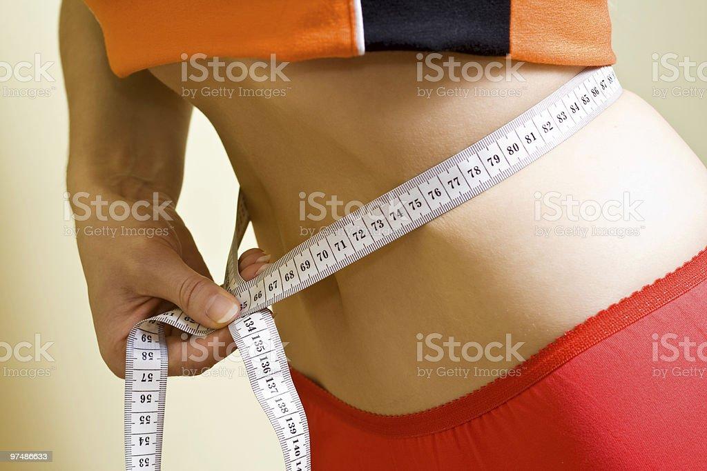 Healthy waistline royalty-free stock photo