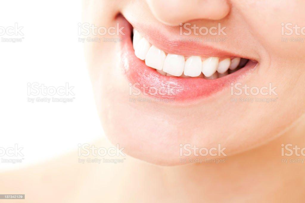 Healthy white smile royalty-free stock photo
