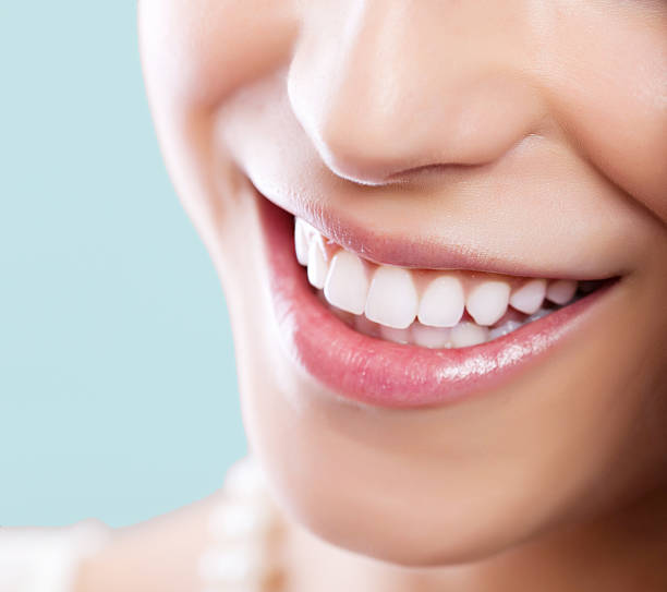 healthy white smile - teeth stock photos and pictures