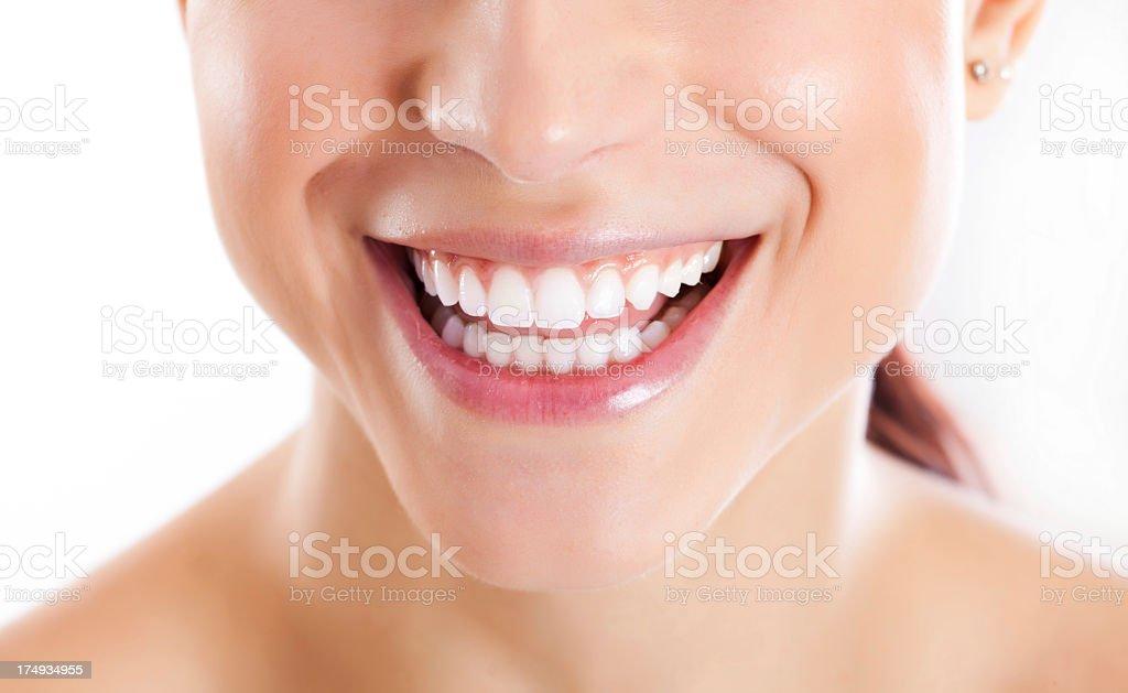 Healthy White Smile stock photo