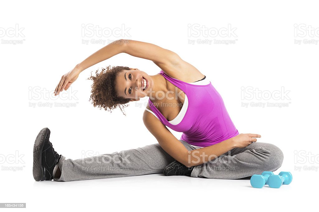 Healthy Woman Exercising stock photo