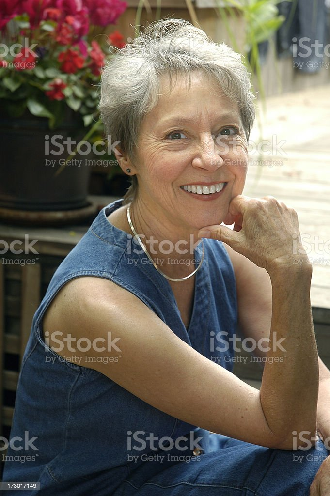 Healthy Woman over 60 royalty-free stock photo