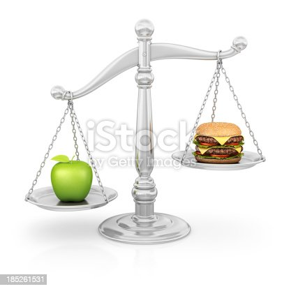 istock healthy/unhealthy eating scale 185261531