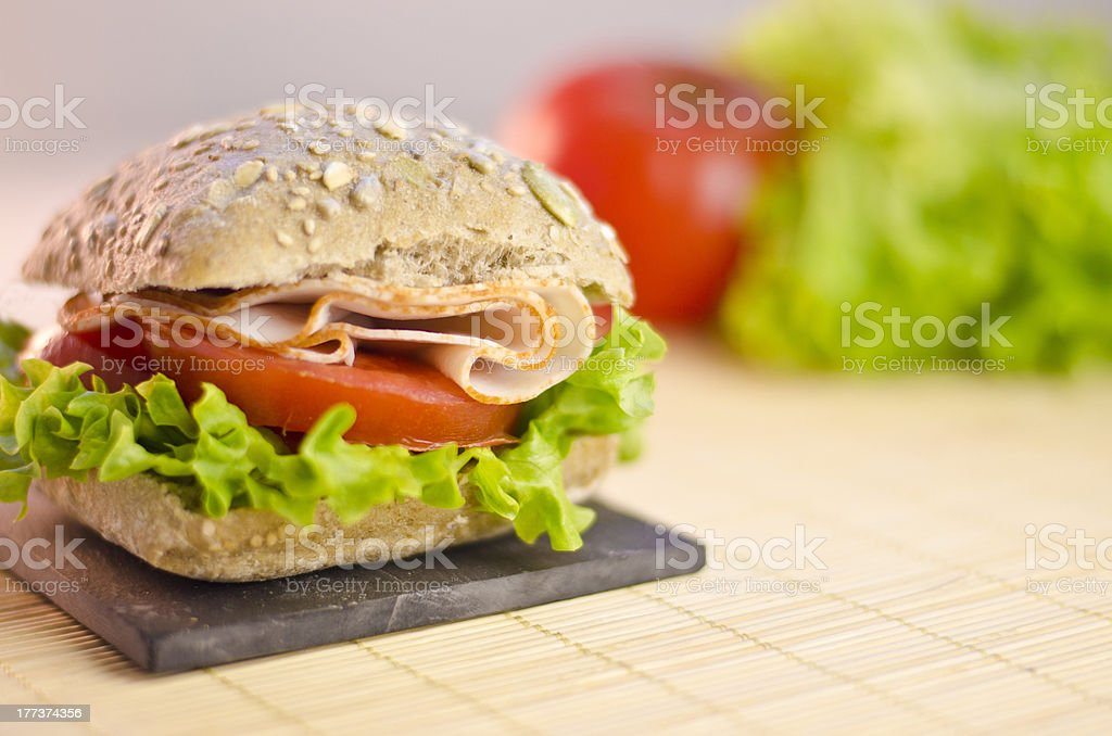 healty chicken sandwich royalty-free stock photo
