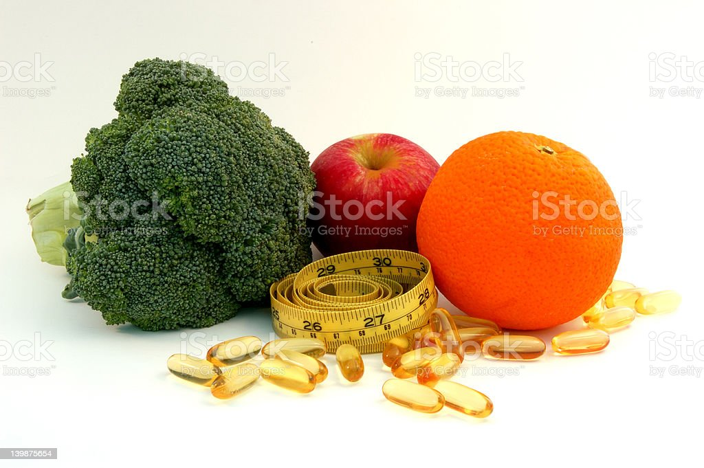 Healty food and supplement royalty-free stock photo