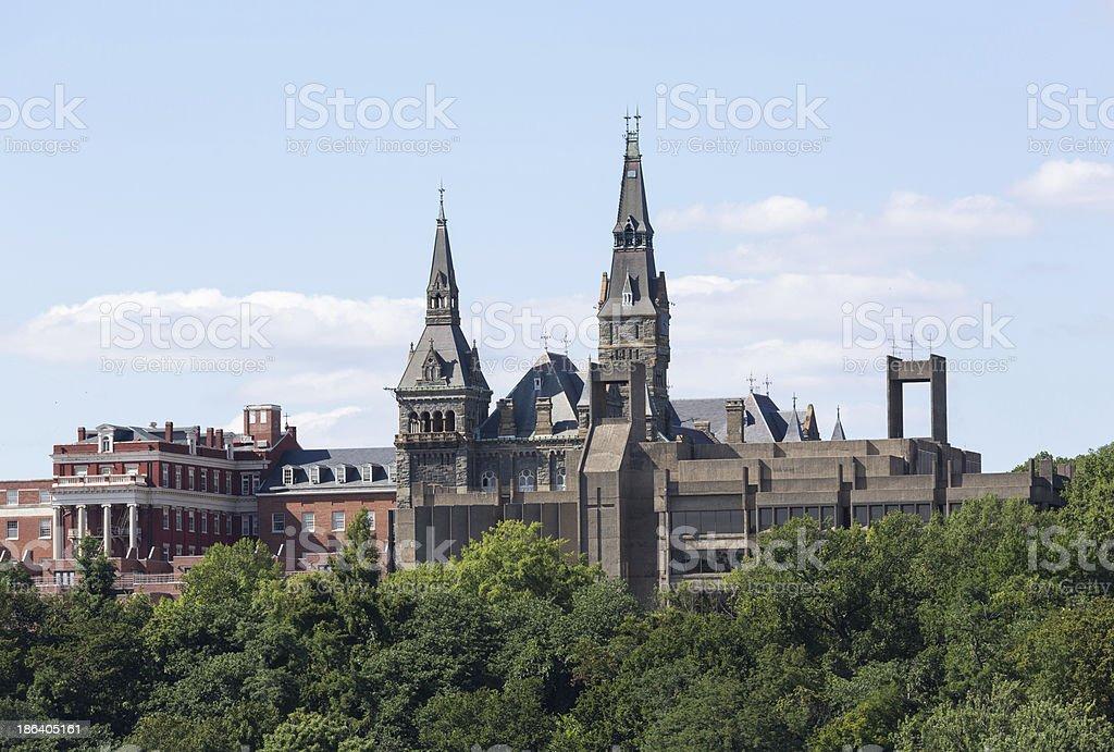 Healy Hall Georgetown University stock photo
