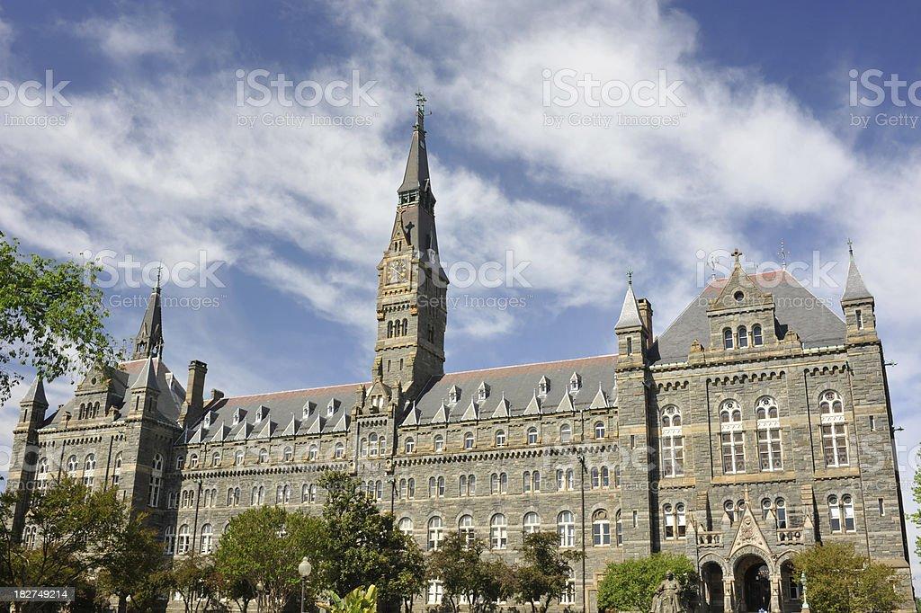 Healy Hall of Georgetown University stock photo