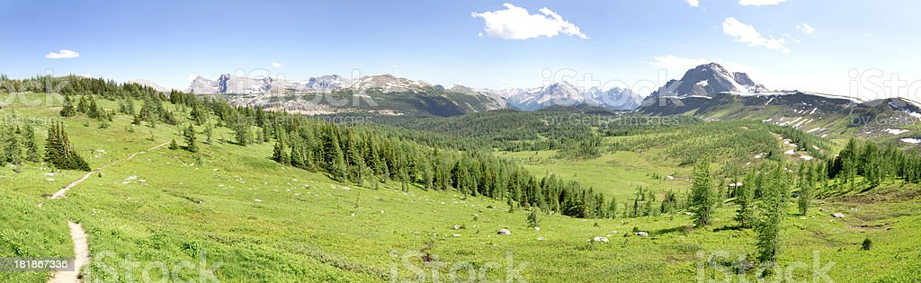 Healy Pass in Banff National Park. royalty-free stock photo