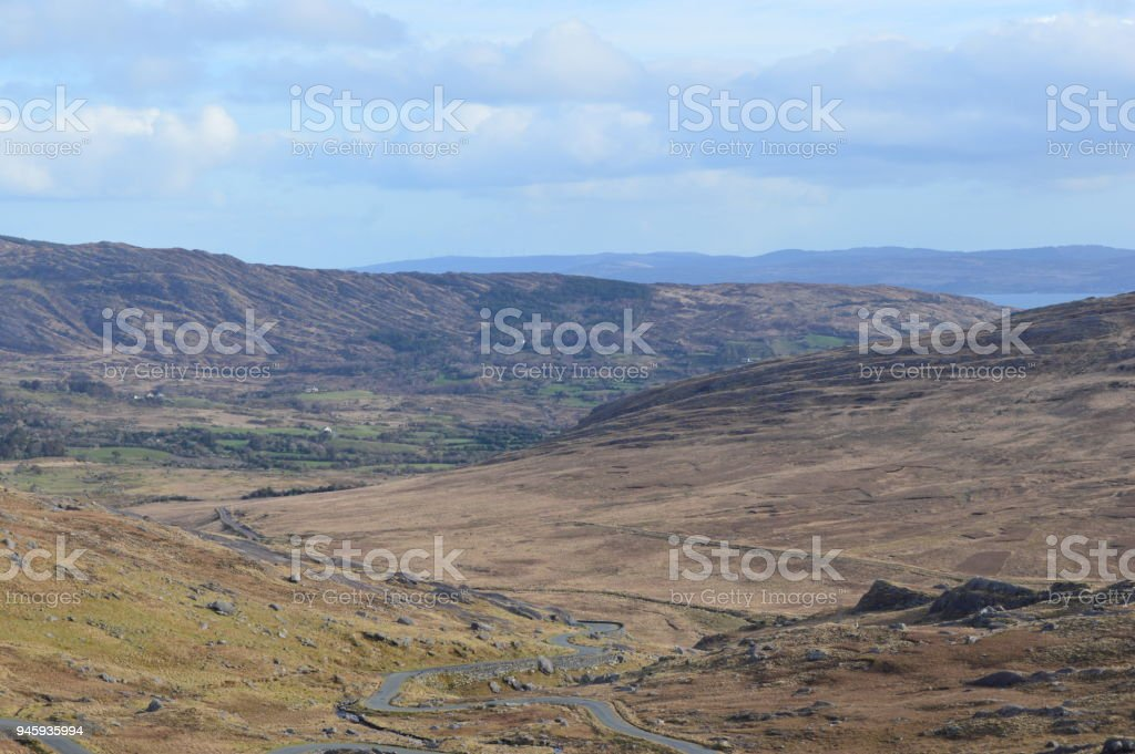 Healy Pass - Kerry Mountains. County Kerry, Republic of Ireland stock photo