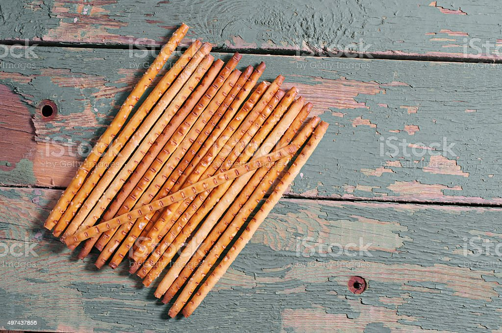 Heap bread sticks stock photo