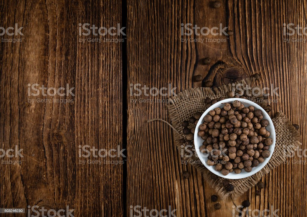 Heap of Allspice (selective focus) stock photo