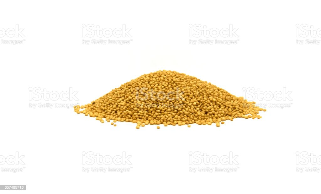 heap of amaranth seeds isolated on white stock photo