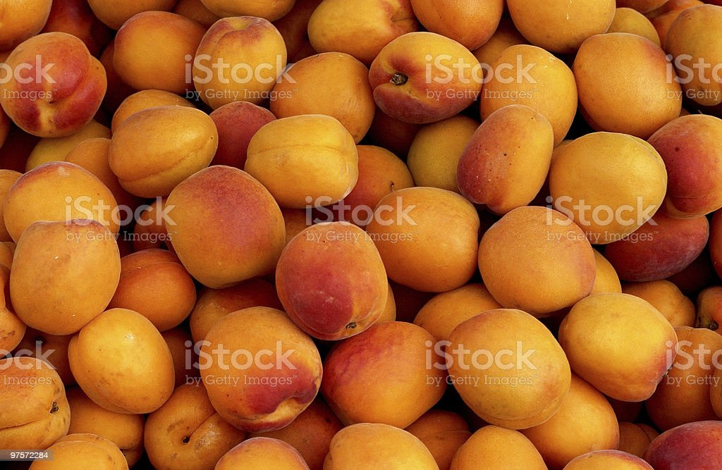 Heap of apricots royalty-free stock photo
