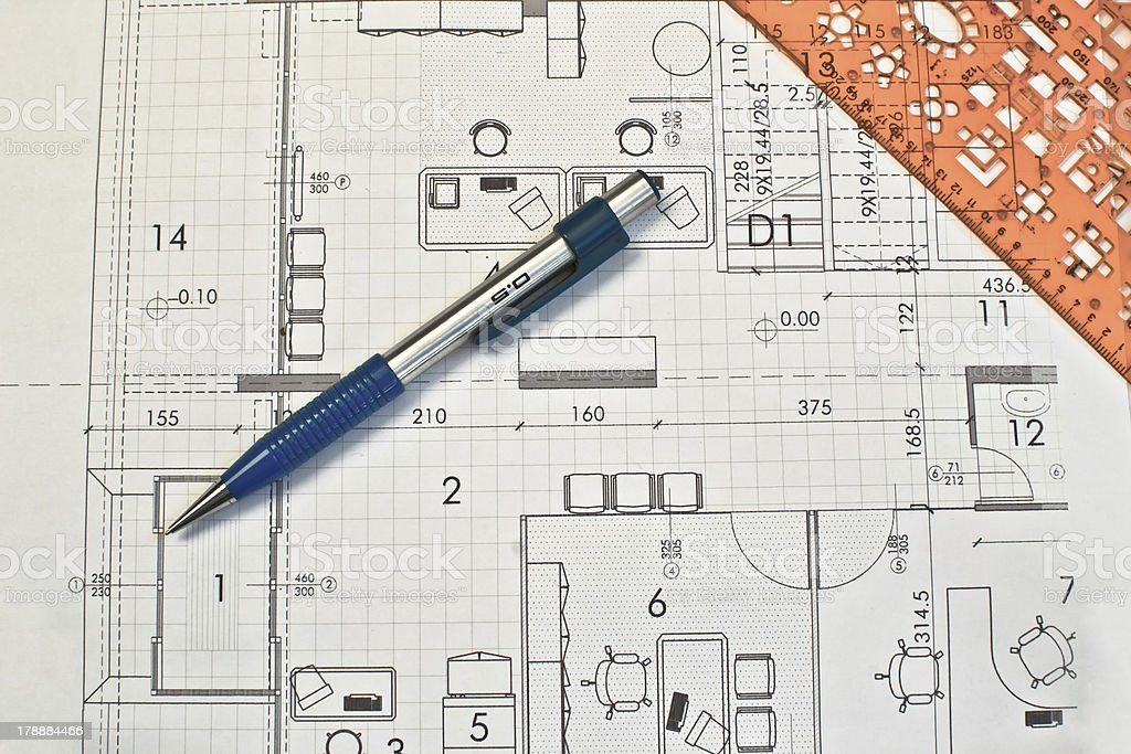Heap of architectural design and project blueprints drawings house heap of architectural design and project blueprints drawings house plan royalty free stock photo malvernweather Image collections
