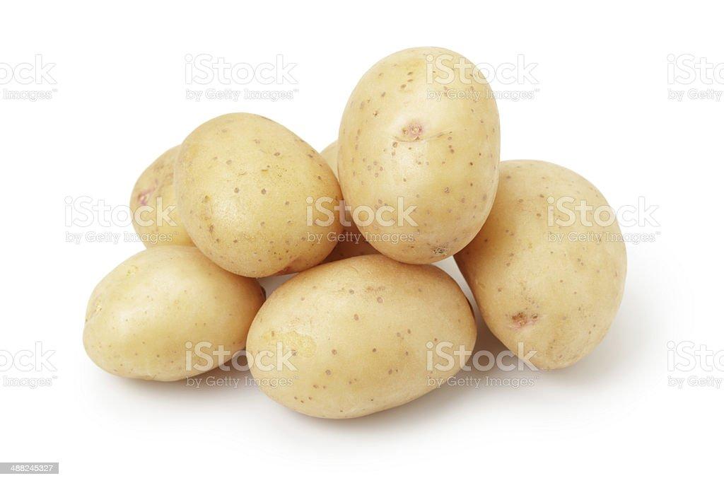 heap of baby potatoes stock photo
