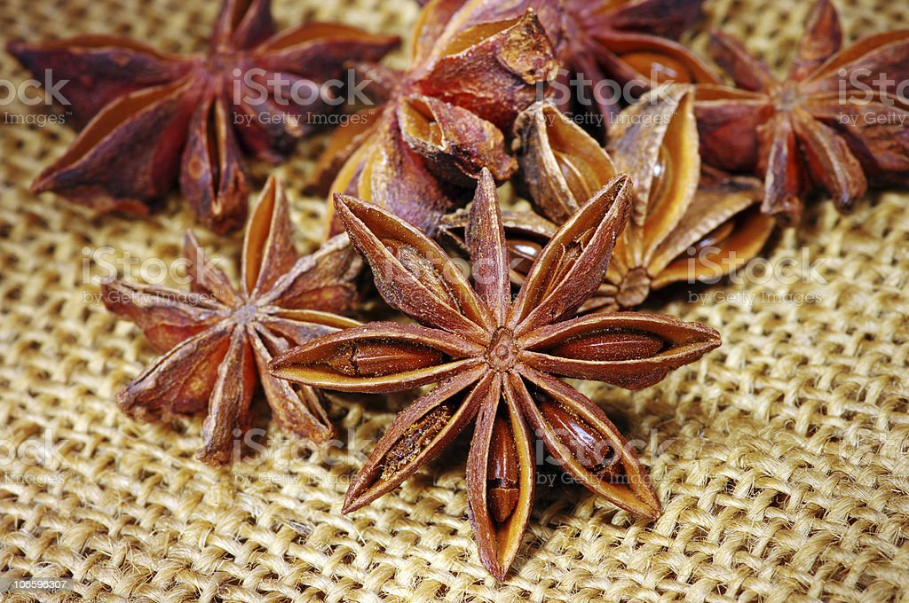 Heap of badyan seeds royalty-free stock photo
